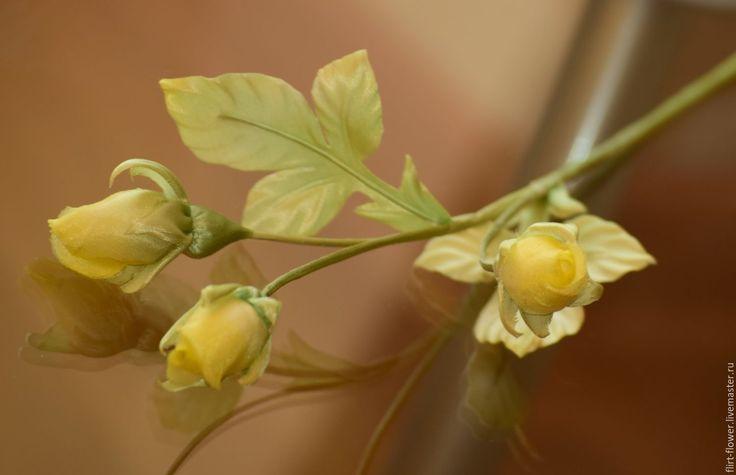 Купить Бутоны роз из японского шелка - бутоны роз, розочки из ткани, розы из шелка