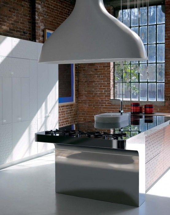 Modern Kitchen With Original Finish U2013 Mesa By Schiffini | DigsDigs