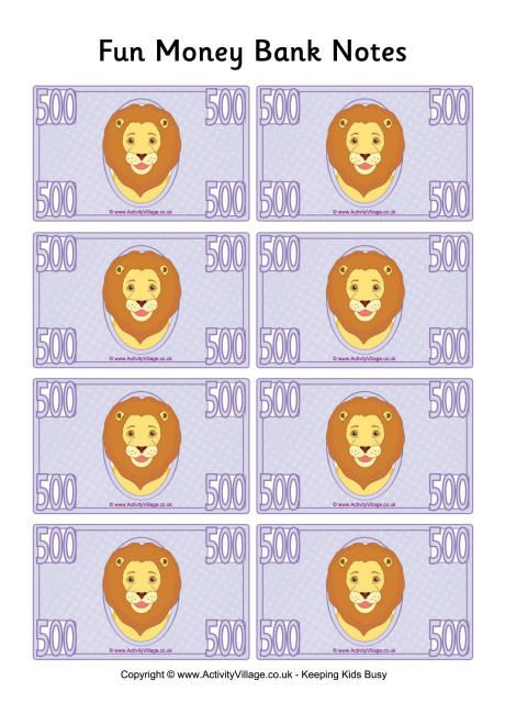 Fun money banknotes 500
