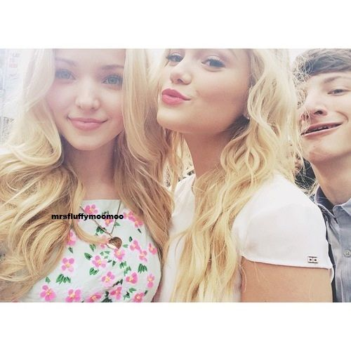 Dove Cameron, Olivia Holt, and Jake short at the RDMA'S Ardy's preshow party April 25,2015