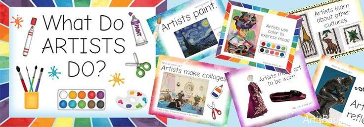 Huge Printable Art Advocacy List! What Do Artists Do? – Art is Basic | An Elementary Art Blog