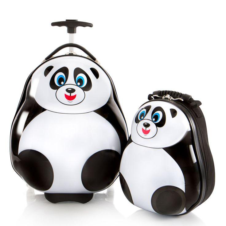 Heys Kids Travel Tots Kindertrolley 46 cm 2 Rollen mit Rucksack Panda #kinderkoffer #kinder #panda