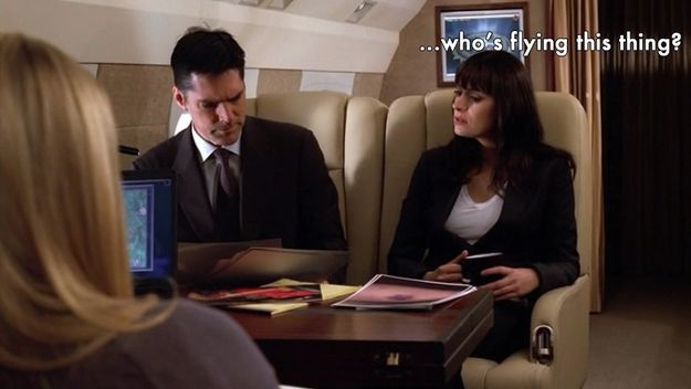 """Also, it's unclear who the pilot is.  17 Tiny things the writers of """"Criminal Minds"""" need you to know.  Click to see them"""