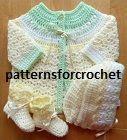 Crochet Coat, Hat & Booties « The Yarn Box The Yarn Box