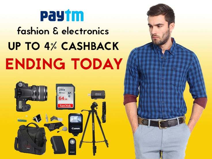 Get attractive discounts on Apparels, Fashion Accessories Footwear, Baby, Kids & Toys (Only Stuffed Toys), Beauty & Grooming Products Only, Gift & Sweets and Camera Accessories, Computer Accessories & Peripherals, Gaming & Mobile Accessories on Paytm starting at Rs.99 only. Get up to 4% #cashback! Offer ends today!