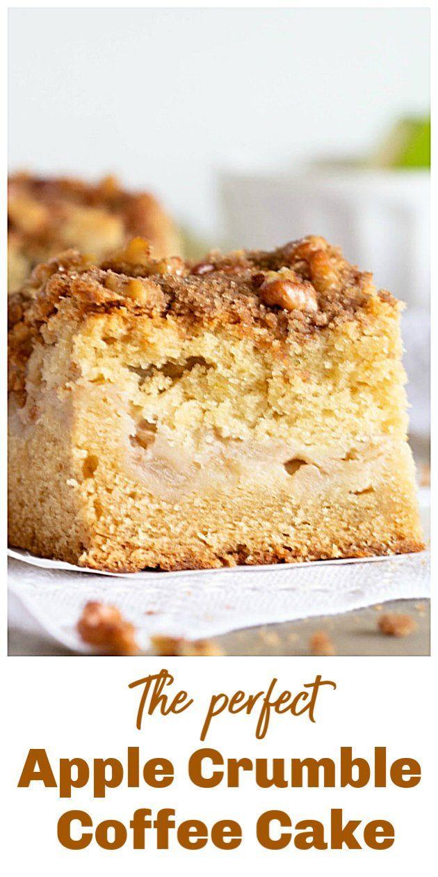 Apple Crumble Coffee Cake Apple Coffee Cakes Coffee Cake Recipes Sour Cream Recipes
