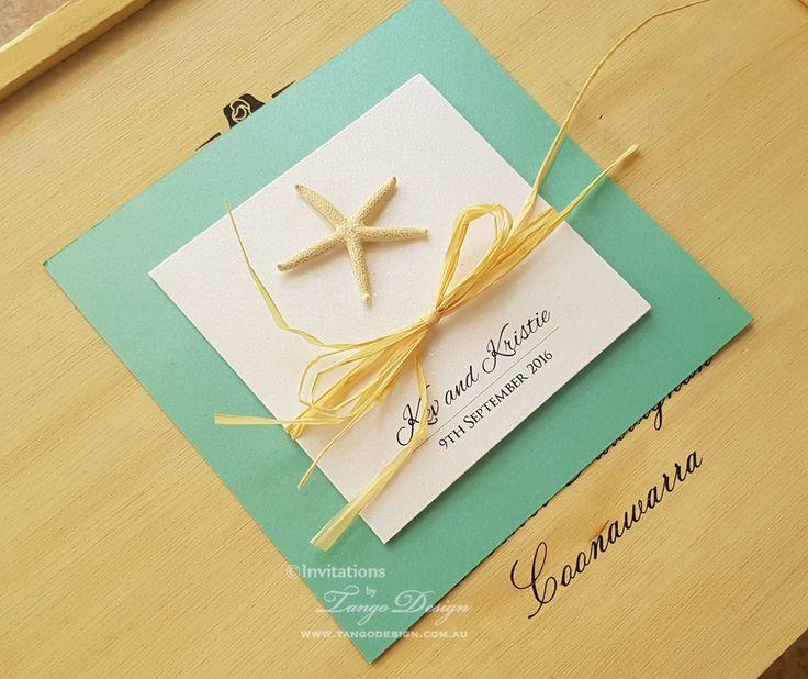 TROPICAL Wedding Invitations With Starfish. Destination Invitation. Tiffany  Blue Invitation, Teal Wedding, Aqua Card. Beach Wedding Invites
