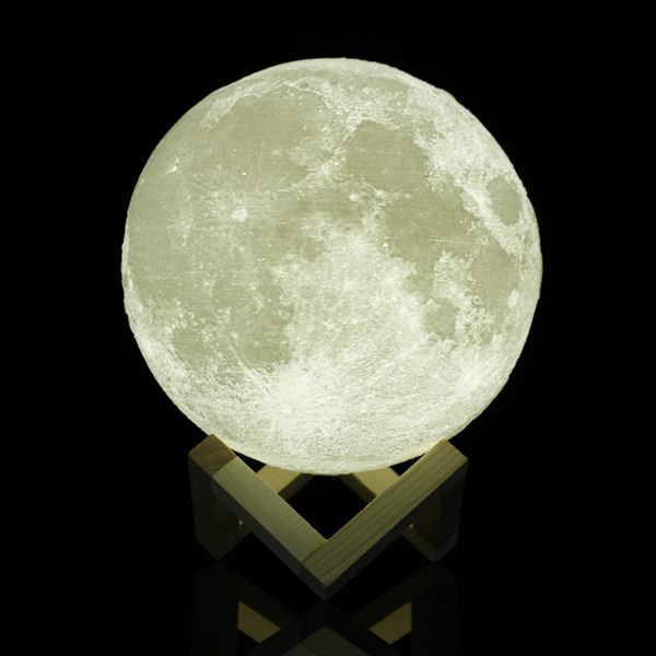 18cm Touch Sensor 3d Moon Table Lamp Usb Color Changing Led Luna Night Light Kids Gift Indoor Lighting From Lights Lighting On Banggood Com Night Light Kids Color Changing Led Moon