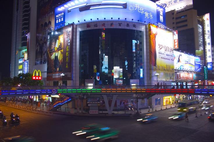 Downtown Fuzhou China :) Would love to live here :) Hoped I would :)