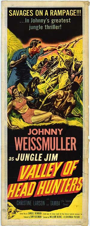 VALLEY OF HEAD HUNTERS - Johnny Weissmuller