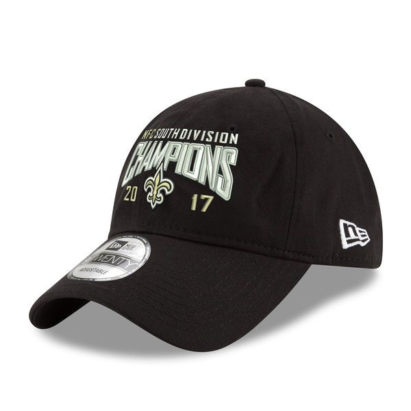 Men's New Orleans Saints New Era Black 2017 NFC South Division Champions 9TWENTY Adjustable Hat, Your Price: $23.99