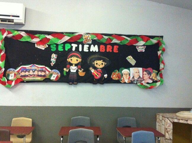Periodico mural septiembre peri dico mural pinterest for Colocar papel mural