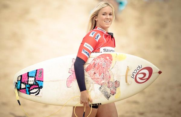 """""""It's hard for me to describe the joy I felt after I stood up and rode wave in for the first time after the attack. I was incredibly thankful and happy inside. The tiny bit of doubt that would sometimes tell me you'll never surf again was gone in one wave."""" -- Bethany Hamilton"""