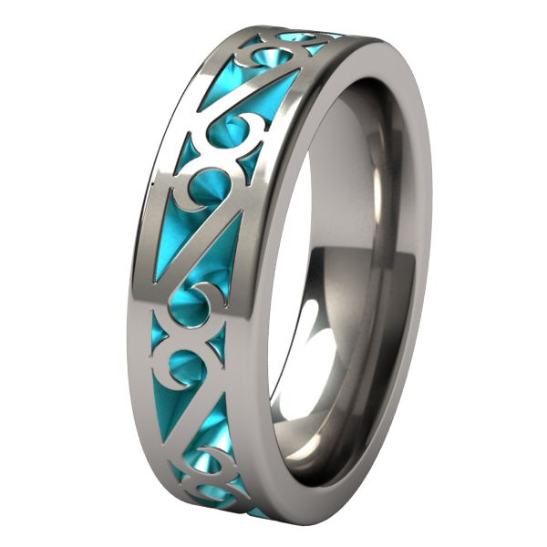 Mens Wedding Band - very unique! Maybe see if josh wants some color?