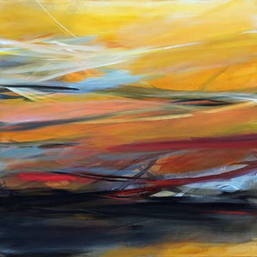 """Saatchi Art Artist Ute Laum; Painting, """"Abstract painting Sommersonnenwende (solstice)"""" #art"""