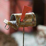 Fairy garden mailbox, miniature mailbox, fairy garden supplies, dollhouse mailbox, fairy garden accessories, mini snowy mailbox by DreamFairyGardens on Etsy https://www.etsy.com/listing/493013865/fairy-garden-mailbox-miniature-mailbox
