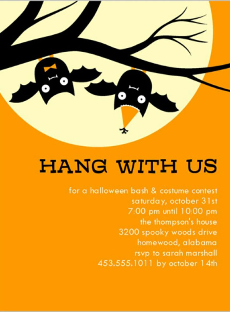 Upsidedown Bat Invite (With images) Halloween