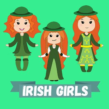 Adorable Irish triplets celebrating St.Patrick's day with you in this last moment holiday deal set!What you will find inside is 6 images (3 colored images plus 3 gray-scale copies) ready for print, high resolution, transparent background (.png format 300 dpi) in a .zip folder.