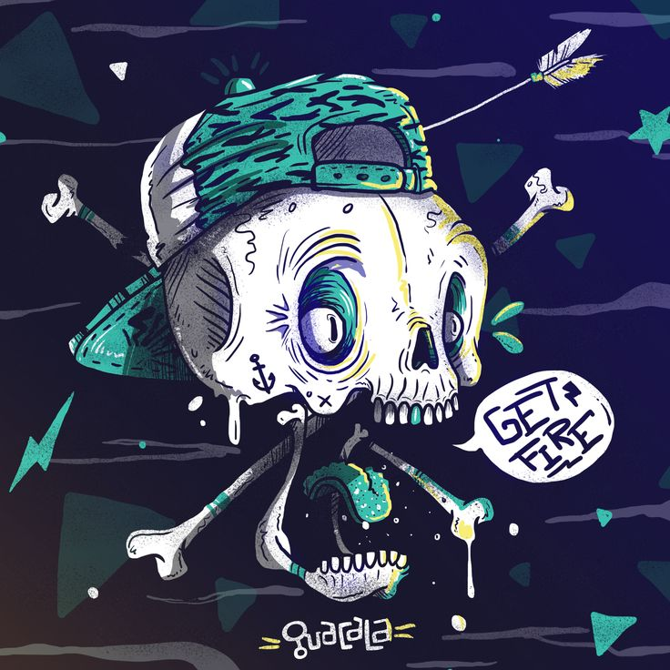 GET FIRE /// Guacala Collective #guacala #skull #colectivoguacala #artwork #character