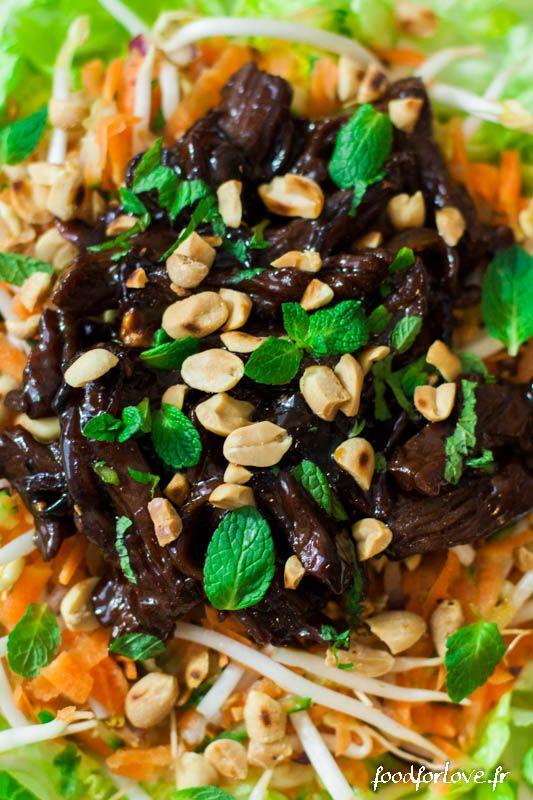 Salade au Boeuf Sauté et Cacahuètes - Food for Love