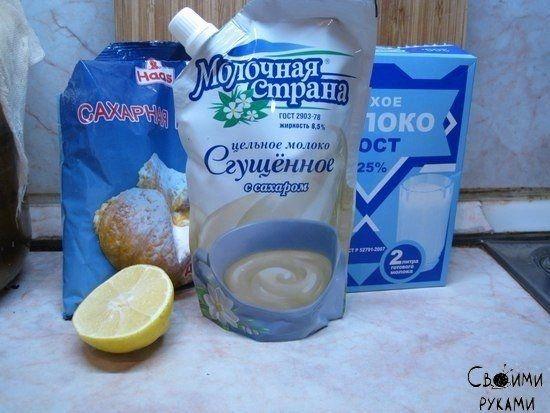 Молочная сахарная мастика для украшения тортов