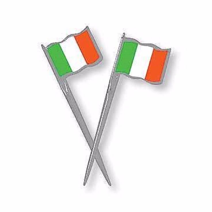 Plastic Irish Flag Party Picks approx 9cm Pack of 12