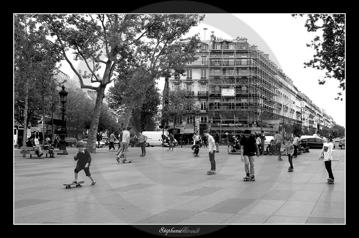 Skateurs Place de la République