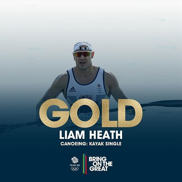 @heath_liam has just smashed it and won GOLD in Kayak Single #canoe #Rio2016…