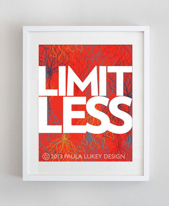 8x10 Print  Words of Strength Series LIMITLESS by PaulaLukeyDesign, $14.00