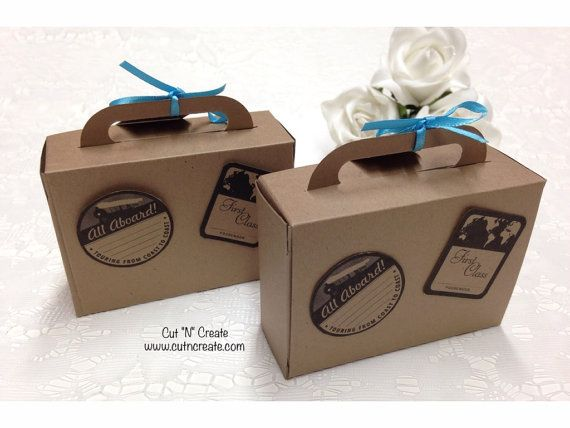 Suitcase Wedding Favours Destination Wedding by CutNCreateCanada