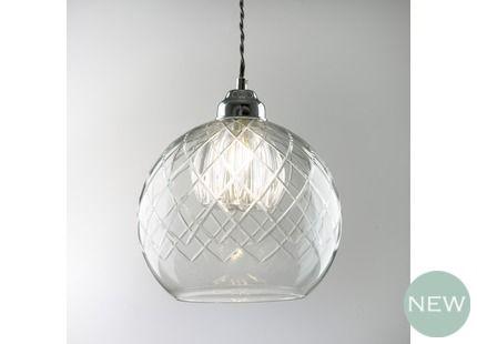 #lauraashleyss14 Gabby Glass Ceiling Pendant Light | Laura Ashley bought for summer room
