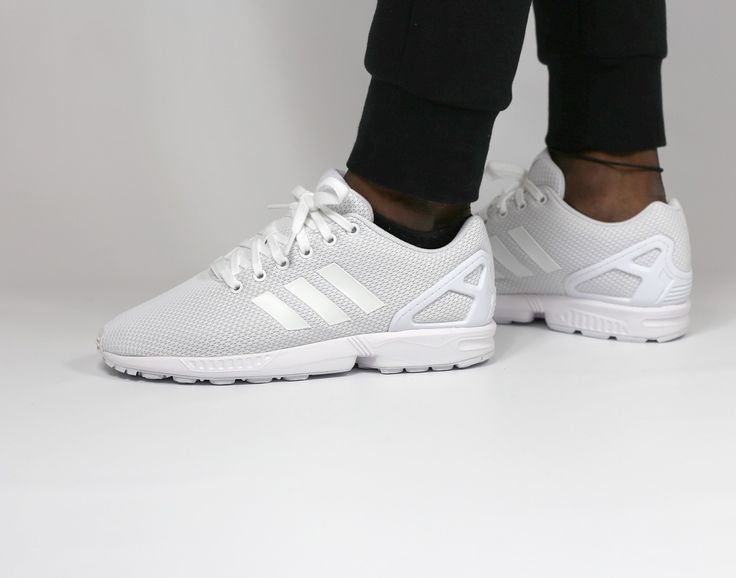 Adidas Zx Flux Slip On Running Ftw Shoes Mens White Graceful