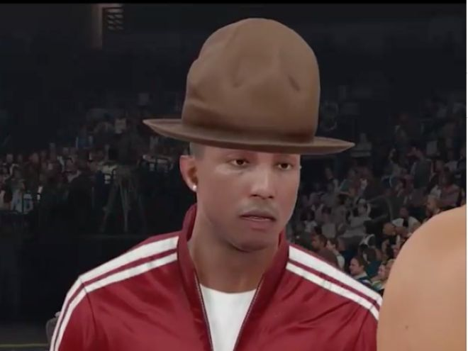 Wait, Is That Really Pharrell Williams In The New NBA 2K15 Game? - MTV