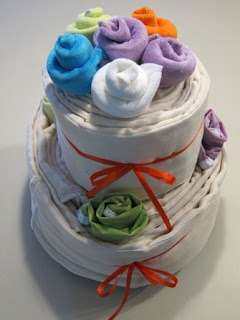 3 Baby Boys and a Business: Cloth Diaper Cakes