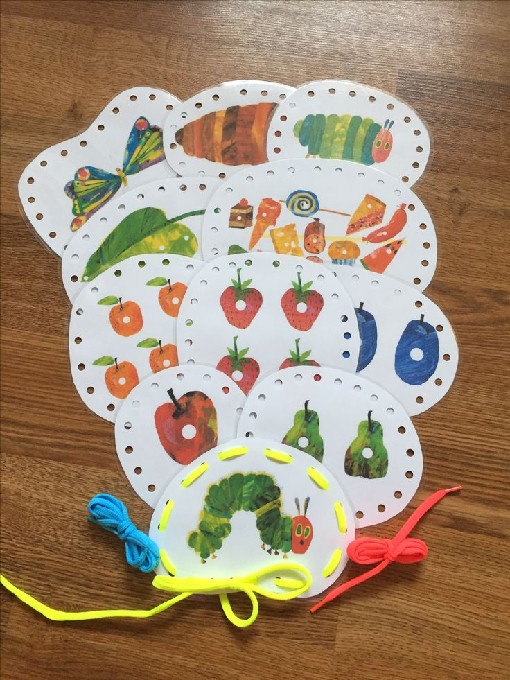 """Lacing Cards """"The Very Hungry Caterpillar"""""""