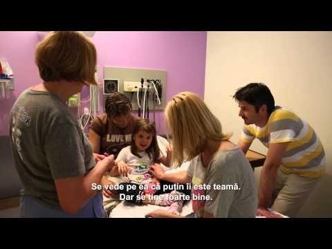 Nelli, fetita din Slovacia a beneficiat de transplant cu celule stem - YouTube