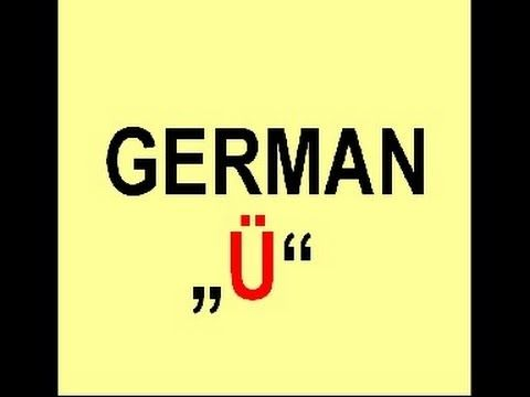 "How to pronounce the german Umlaut ""ü"" - YouTube"