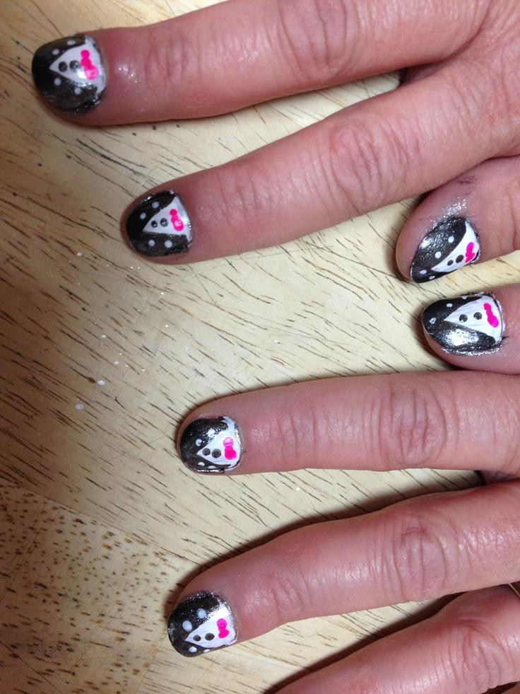 Tuxedo nails! Tuxedo nails, Nails, Painting