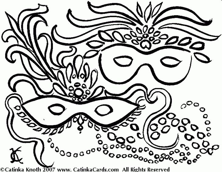 mardi gras coloring page to print out