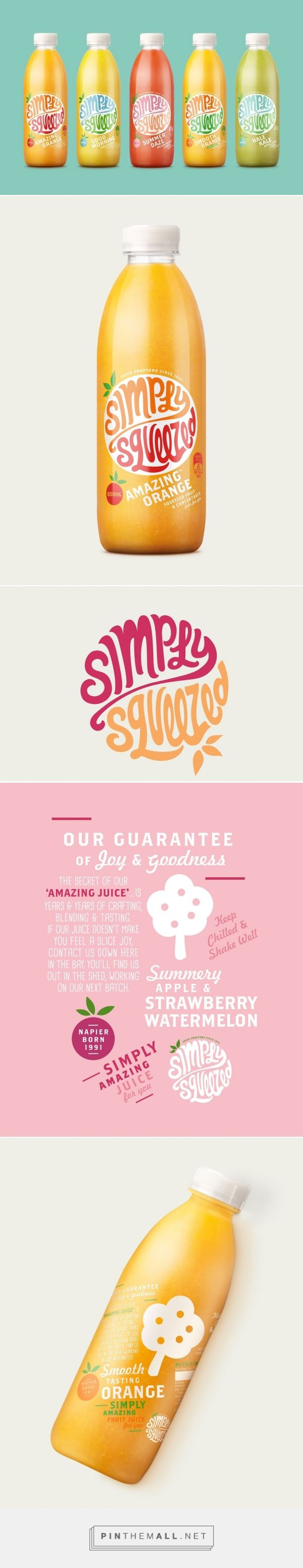Simply Squeezed ‪‎Juice‬ ‪‎packaging‬ ‪‎design‬ by Dow Design, ‎NewZealand‬)