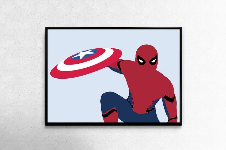 Spiderman Poster Spiderman Poster Minimalist Poster Spiderman