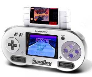Portable Super Nintendo Player - Break out that box of old Super Nintendo cartridges you've got in storage because now you replay all the classics in this amazing handheld Super Nintendo player! Shaped like the original controller of a Super Nintendo