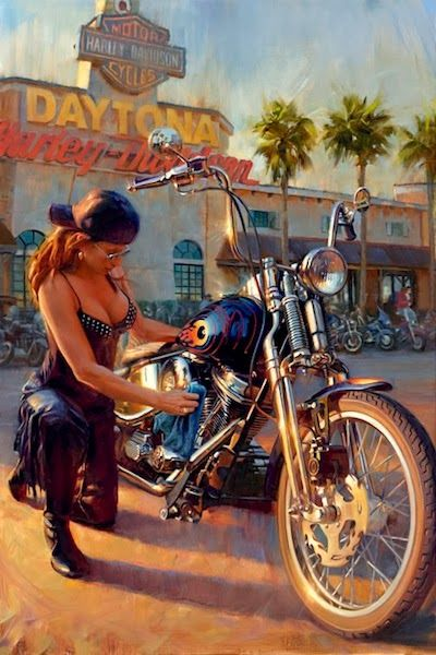 Blog do Wilson Roque: David Uhl - O Artista das Harley-Davidson