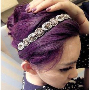 Vintage Retro Bling Bling Handmade Beads Hoop Hairband