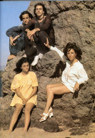 Elizabeth Taylor with her children Michael Wilding Jr. Christopher Wilding and Liza Todd