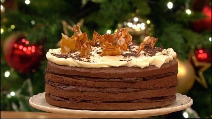This creamy chocolate and coffee layer cake has real wow factor and is ideal for a dinner party this Christmas.  Catch up with Let's Do Lunch on ITV Player