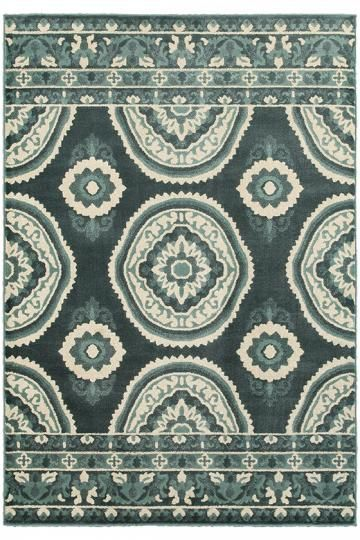 Possibility for basement. Alexia Area Rug - Medallion Rugs - Transitional Rugs - Synthetic Rugs - Nylon Rugs - Rugs Made In The Usa - Machine-made Rugs | HomeDecorators.com