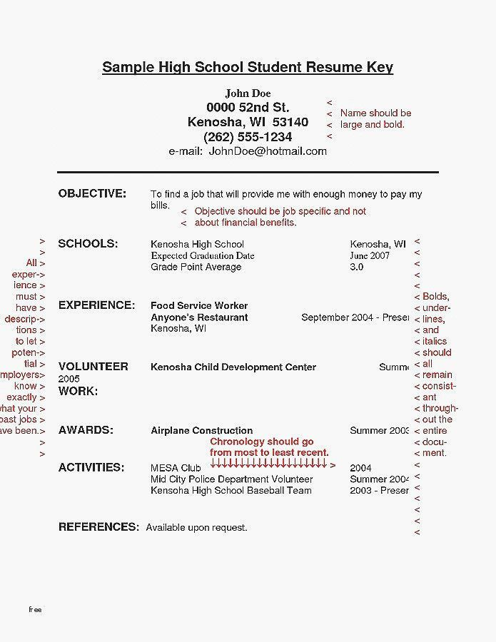 30 High School Diploma Resume Student Resume Template First Job Resume High School Resume