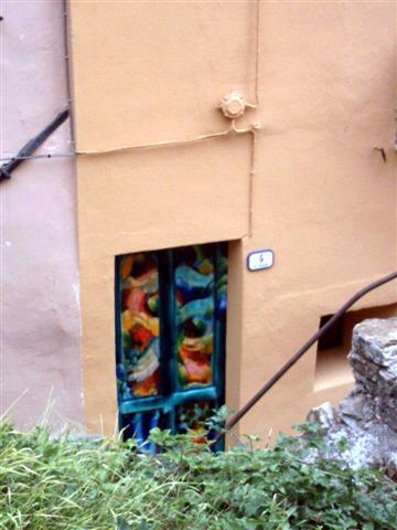 """The village of the Painted Doors "" Valloria , Liguria .Italy ..  Artist .....Coilin Murray ..."
