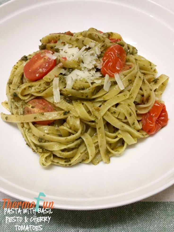 Quick delicious Basil Pesto & Tomato Pasta for those meatless dinner nights or perfect for vegetarians.